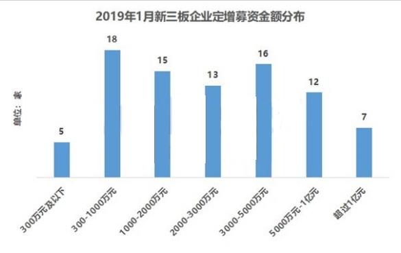 新三板最新动态 2019年1月新三板企业定增募资TOP前30