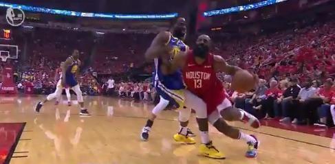 NBA季后赛格林又一次打到哈登眼睛!慢动作回放